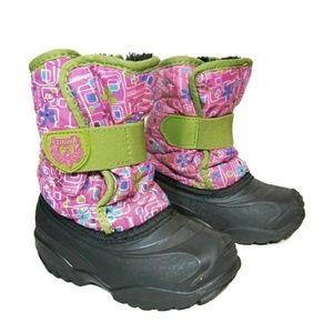 Kamik Snow Boots Pink Green